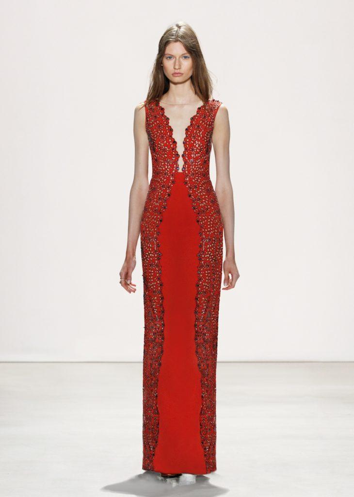 JENNY PACKHAM RED SLEEVELESS DRESS 2016