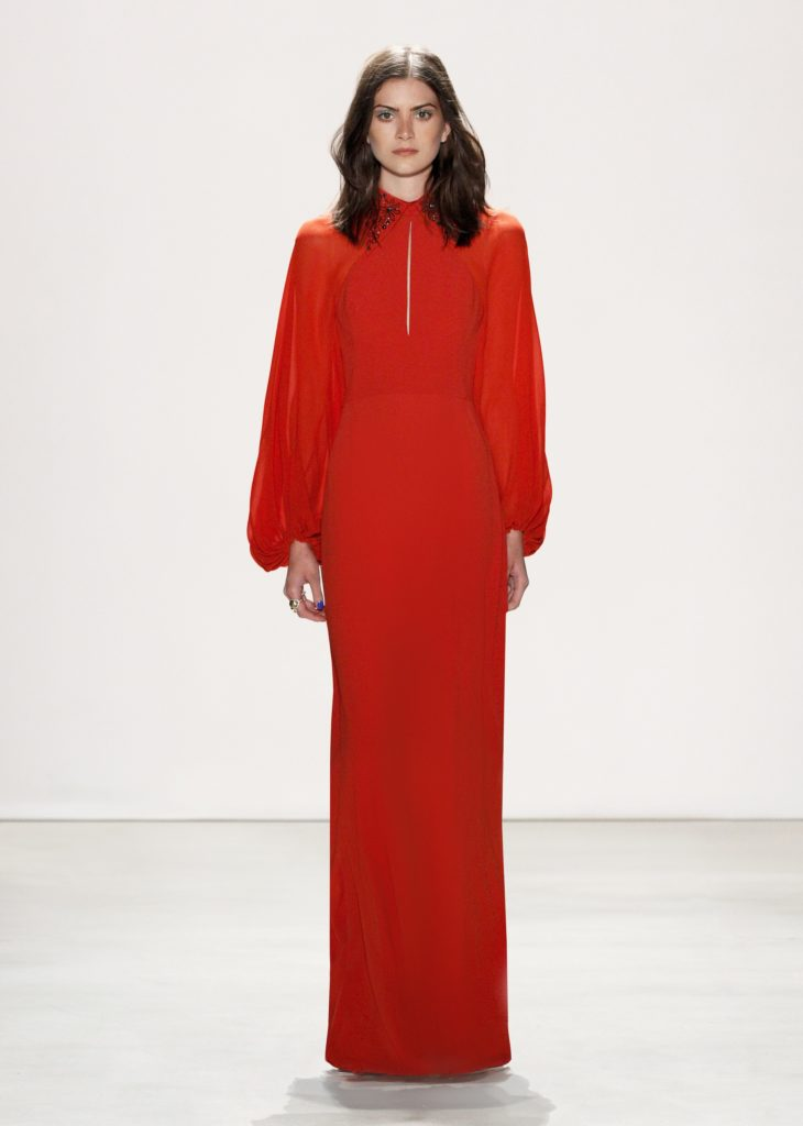 JENNY PACKHAM LONG SLEEVE RED DRESS 2016