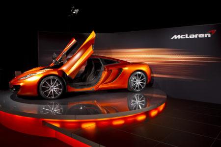 McLaren orange car