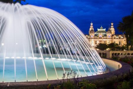 Monte Carlo Monaco fountain