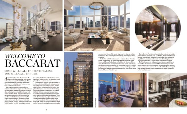 baccarat residences spread