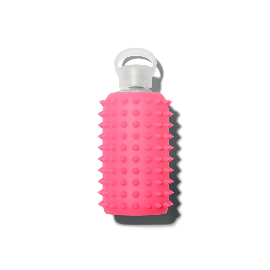 bkr-water-bottle-glass-spiked-rosy-500ml