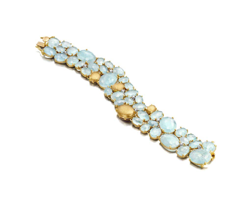 nanis ipanema bracelet gold aquamarine diamonds