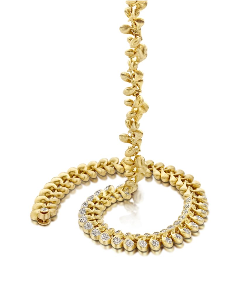 nanis transformista necklace gold diamonds