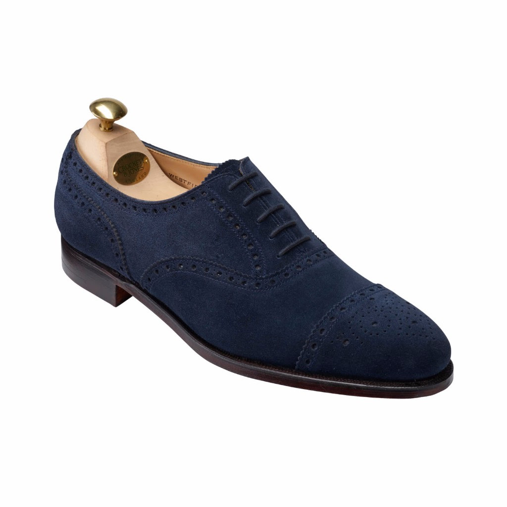 crockett and jones westfield ocean suede shoe spring collection