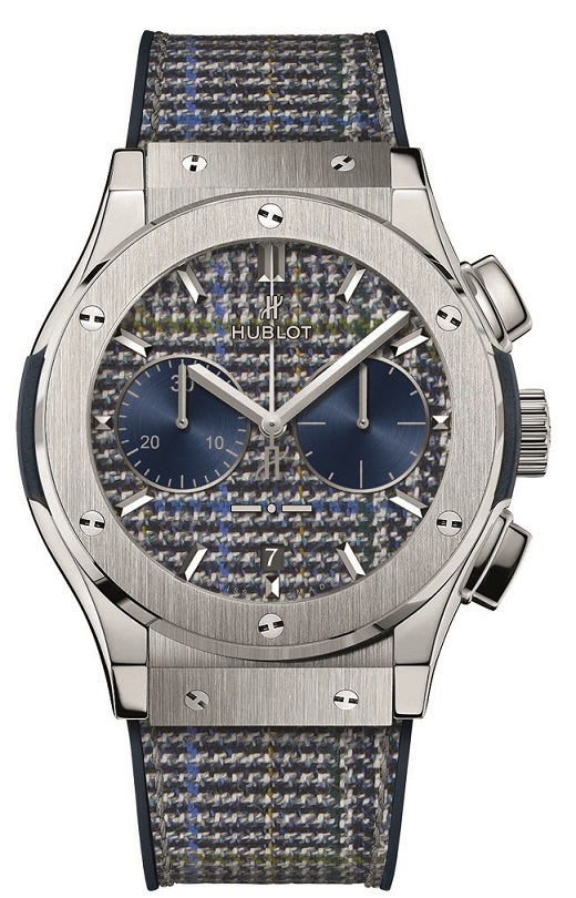"HUBLOT: Classic Fusion Chronograph Italia Independent ""Prince de Galles"" (Prince of Wales) TITANIUM"