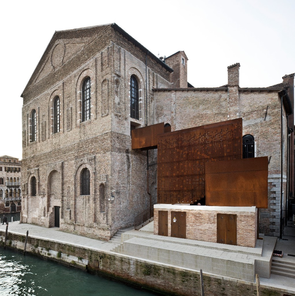Misericordia di Venezia exterior along the canal