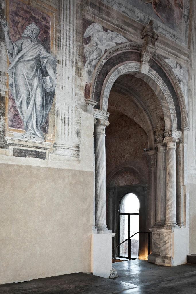 Misericordia di Venezia archway frescos
