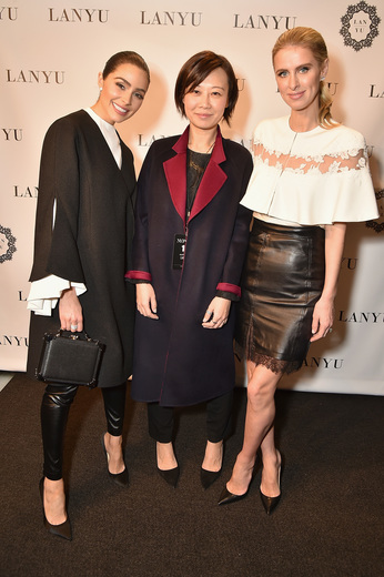 Olivia Culpo, Lan Yu, and Nicky Hilton Rothschild lanyu event