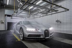 bugatti atelier chiron wet test