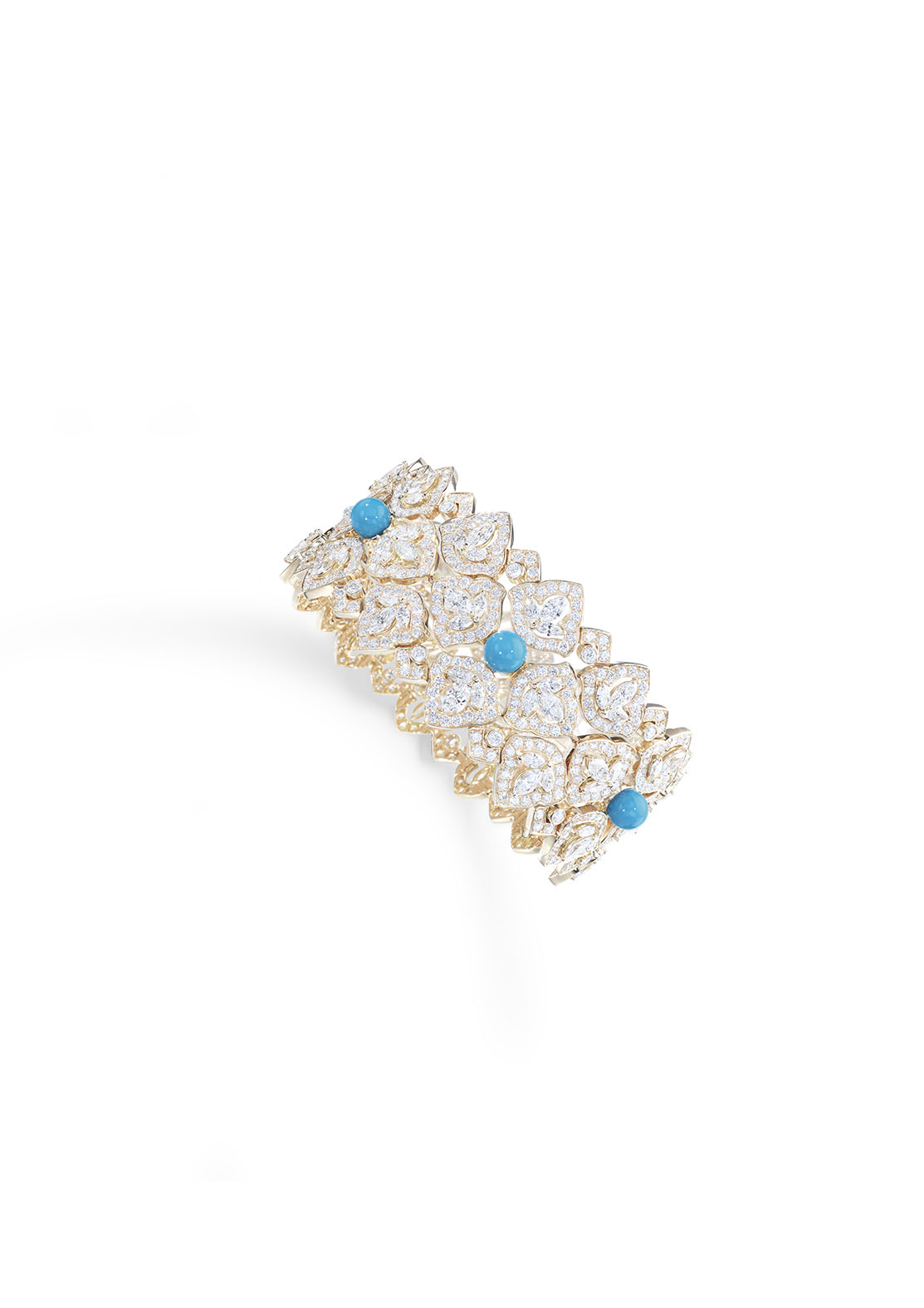 Secrets and Lights Collection by Piaget Yellow Gold, Diamonds, and Turquoise Bracelet