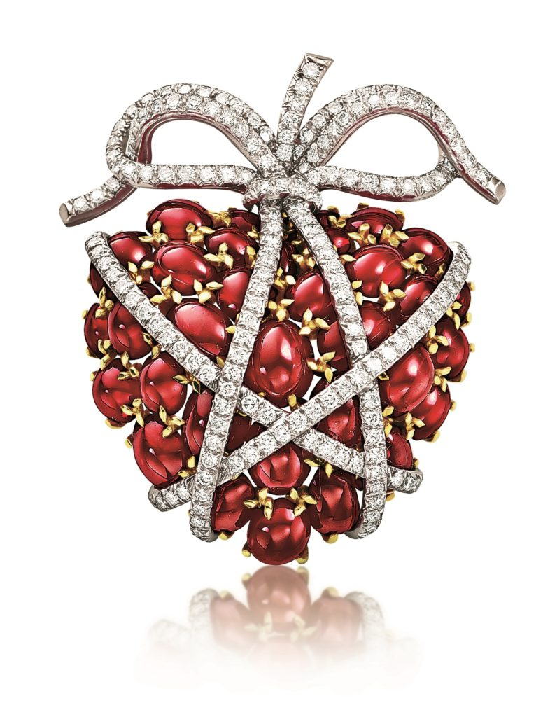 Verdura Ruby Wrapped Heart