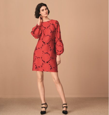 HOBBS LONDON RED LOLA DRESS