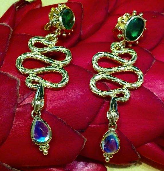 TEMPLE ST. CLAIR: SERPENT DROP EARRINGS