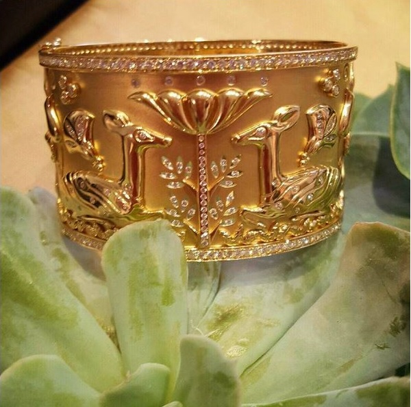 TEMPLE ST. CLAIR: GOLD & DIAMOND CUFF