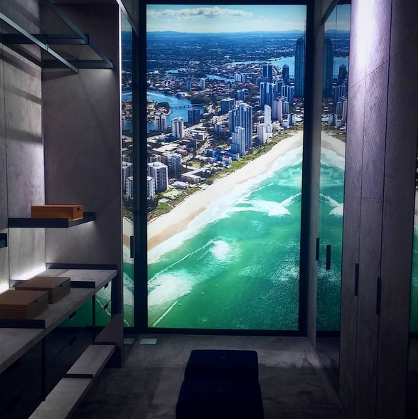 LUXURY LIVING MIMAI DESIGN DISTRICT CUSTOM CLOSET WITH A VIEW
