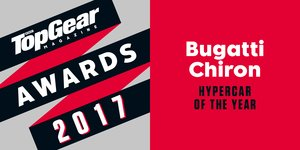 BUGATTI CHIRON TOPGEAR AWARD HYPER CAR OF THE YEAR 2017