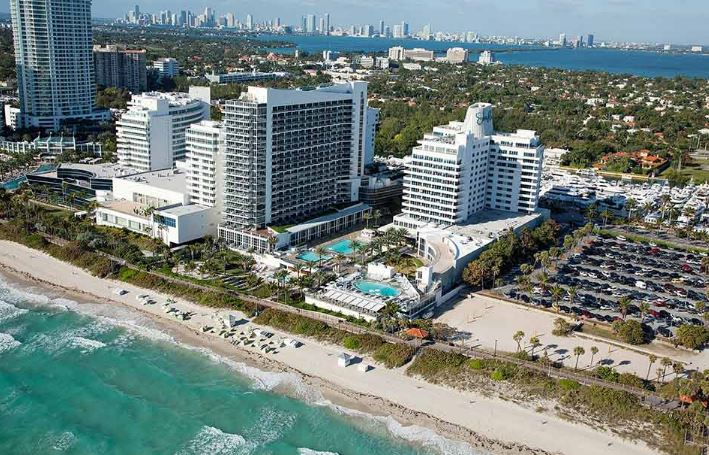 NOBU EDEN ROC RESORT ON THE STRIPS MIAMI BEACH FLORIDA AERIAL VIEW