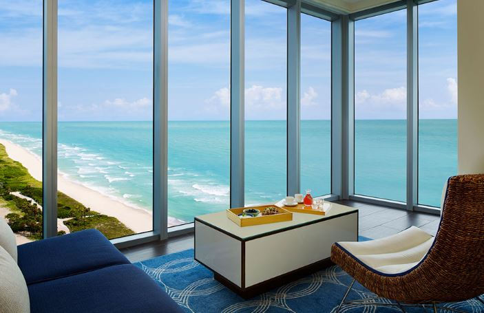 NOBU EDEN ROC RESORT MIAMI BEACH FLORIDA COLLINS AVENUE OCEAN VIEW