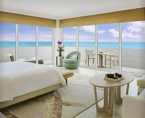NOBU EDEN ROC RESORT ZEN SUITE OCEAN VIEW MIAMI BEACH FLORIDA COLLINS AVENUE