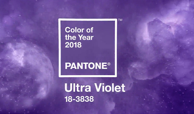 ULTRA VIOLET PANTONE COLOR OF THE YEAR 2018