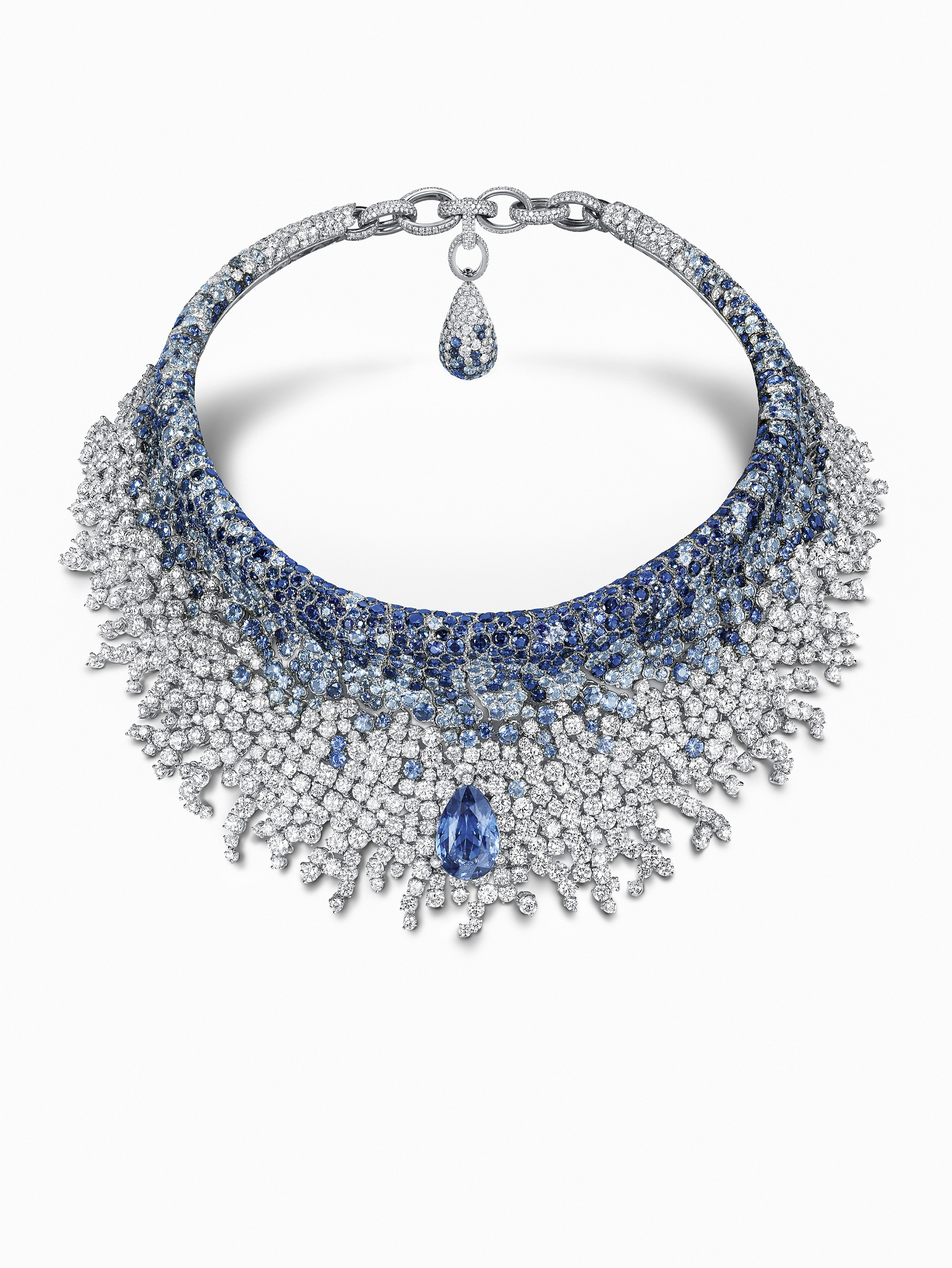 de Grisogono Collier Diamond and Sapphire Necklace high jewelry necklace sapphire diamonds