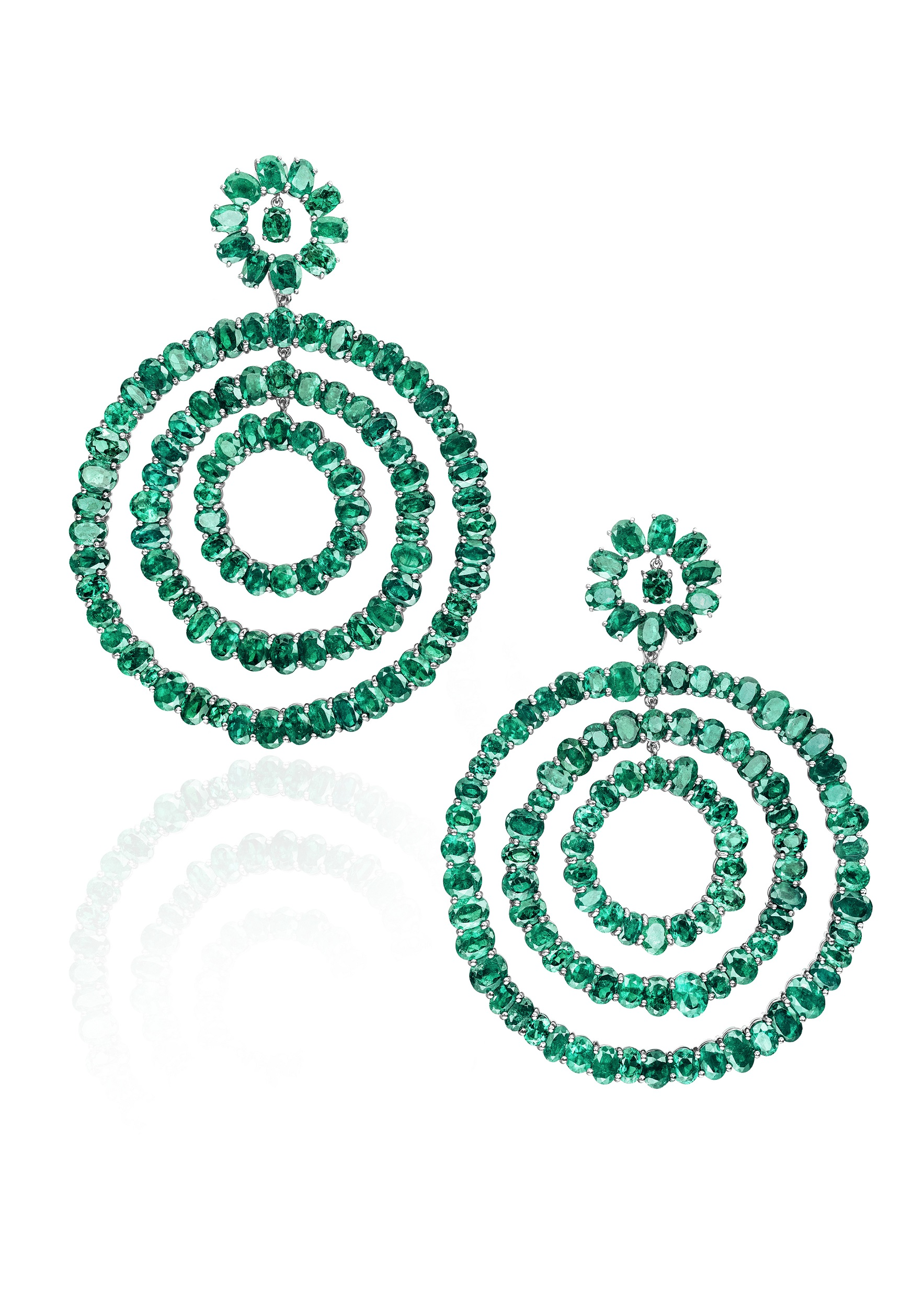 de Grisogono Emerald Earrings
