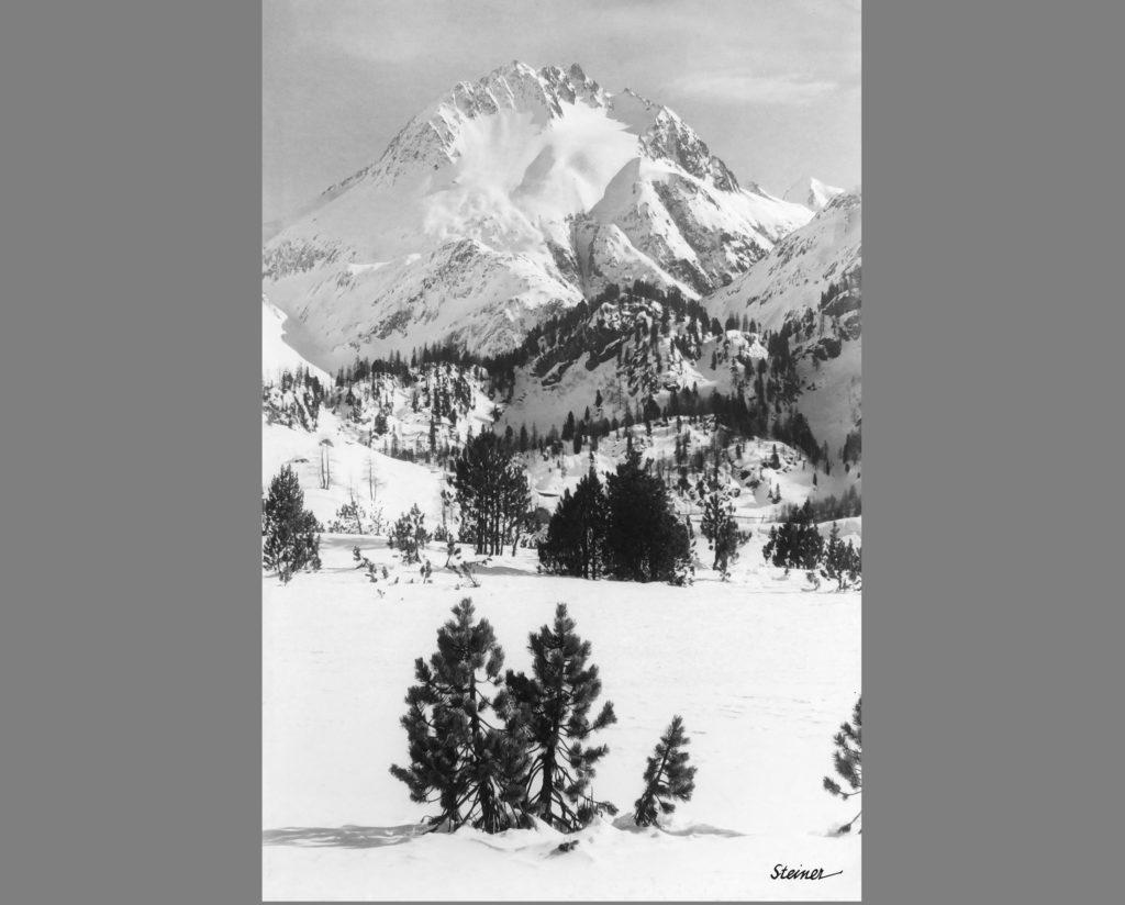 GIUSTINI STAGETTI ALBERT STEINER MALOJA SILVER GELATIN PRINT 1930