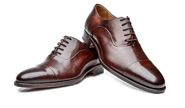 No. 5227 - Exclusive Hand Finished Black/Brown Cap-Toe Oxfords: Handcrafted In Spain Shoepassion