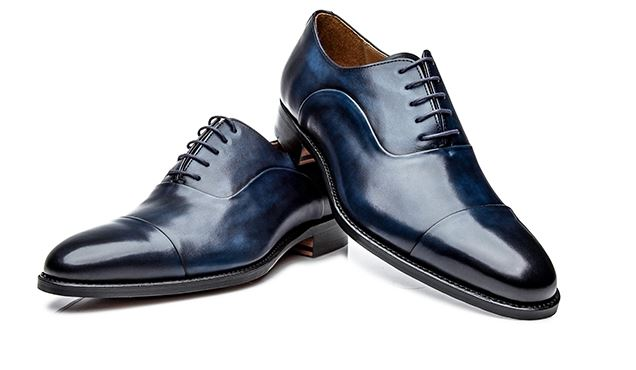 No. 5222 - Navy blue cap-toe Oxfords: Handcrafted In Spain shoepassion