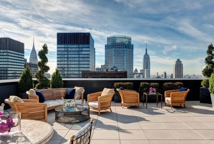 New York Palace Hotel  Outdoor Terrace Of The Towers' Jewel Suite