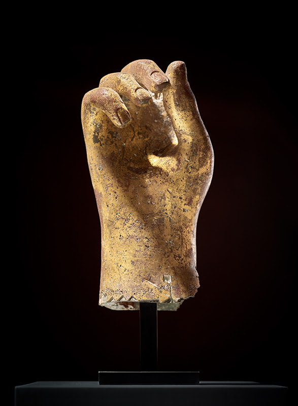AXEL VERVOORDT: HAND, WESTERN EUROPE, ROMAN EMPIRE, 1ST-2ND CENTURY A.D., GILDED BRONZE