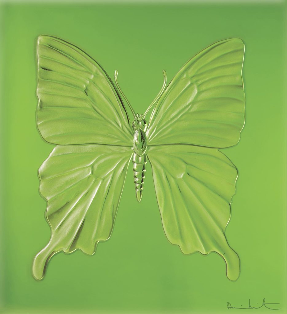 ETERNAL BEAUTY GREEN PHTOGRAPHED BY PRUDENCE CUMING ASSOCIATES LTD DAMIEN HIRST SCIENCE LTD LALIQUE