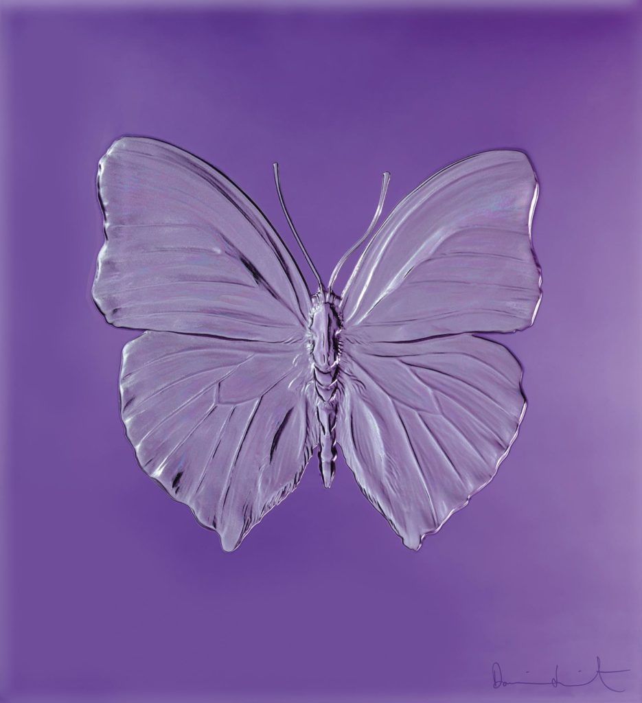 ETERNAL LOVE VIOLET PHOTOGRAPHED BY PRUDENCE CUMING ASSOCIATES DAMIEN HIRST LALIQUE