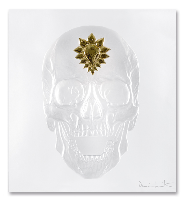 ETERNAL MEMENTO CLEAR AND GOLD PHOTOGRAPHED BY FRANCOIS FERNANDEZ DAMIEN HIRST SCIENCE LTD. LALIQUE