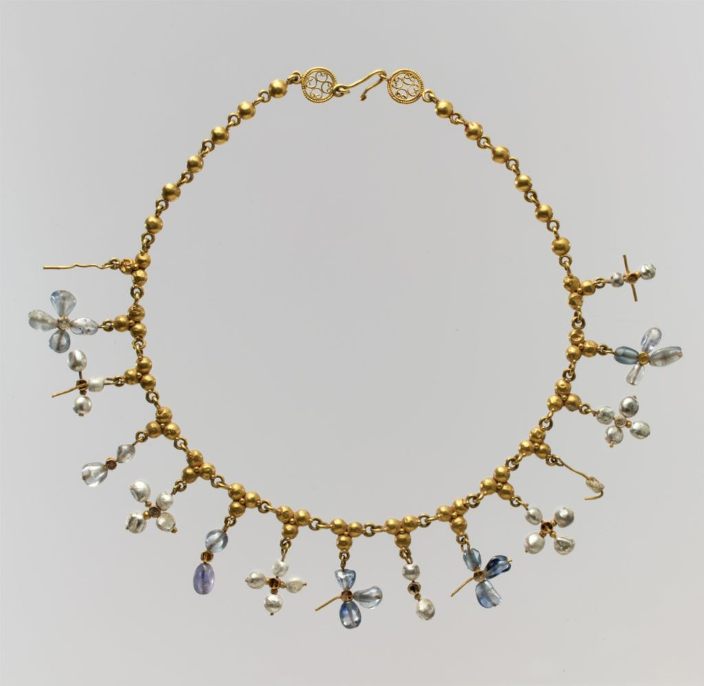 THE METROPOLITAN MUSEUM OF ART: BYZANTINE, 6TH-7TH CENTURY, Gold, Pearl, Sapphire, Smokey Quartz, Quartz ( Probably made in Constantinople )