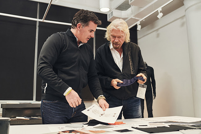 Richard Branson and founder of Under Armour, Kevin Plank.