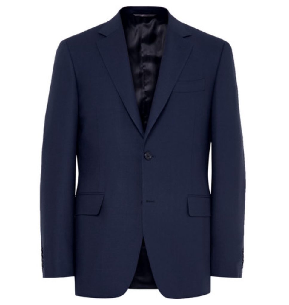 CANALI- ROYAL BLUE SLIM FIT TRAVEL WATER RESISTANT WOOL BLAZER