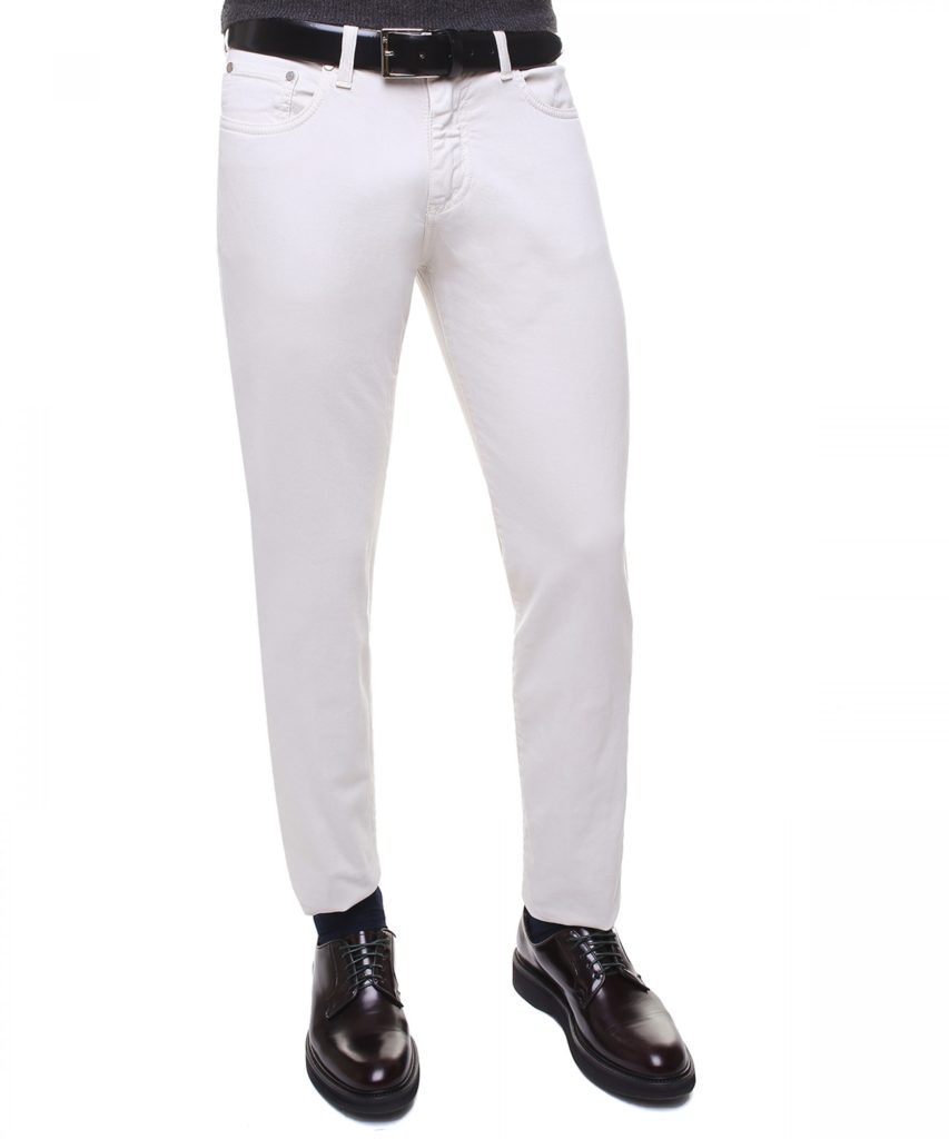 EREDI PISANO: STRETCH COTTON PANTS